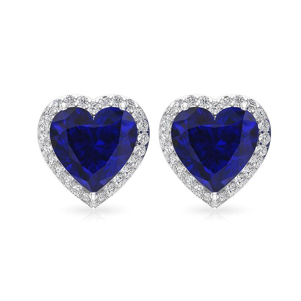 高尚なフォーカス固める3カラットサファイア拡散スタッドイヤリング IGI認定ダイヤモンドブライダルイヤリング HI-SI ダイヤモンドブライドメイドウェディングイヤリングソリティア宝石イヤリング 14K ローズゴールド, ペア