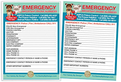 Magnetic Emergency Contact Cards