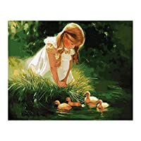Tooart 番号キットによるキャンバスペイントの12x16インチDIY油絵大人のための女性の女の子のパターン子供初心者クラフト家の壁の装飾ギフト