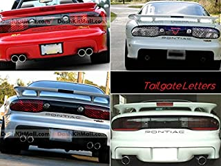 SF Sales USA - Matte Black Tailgate Letters for Pontiac Firebird/Trans AM 1993-2002 Rear Inserts Not Decals