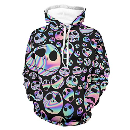 Sudadera con capucha para hombre, diseño de emoticono de Halloween con cara...