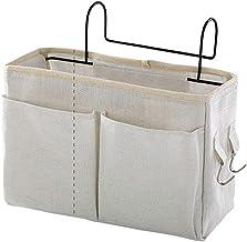 Small Bolsa de armazenamento de cabeceira com bolsos, organizador de pendurar para cabeceira para beliche, dormitórios, tr...