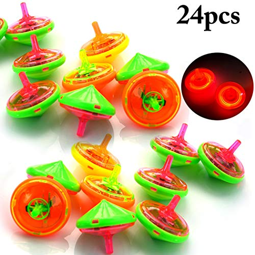 Amazing Deal FunPa 24PCS Spinning Top Creative LED Light up Spin Top Spinning Toy for Kids