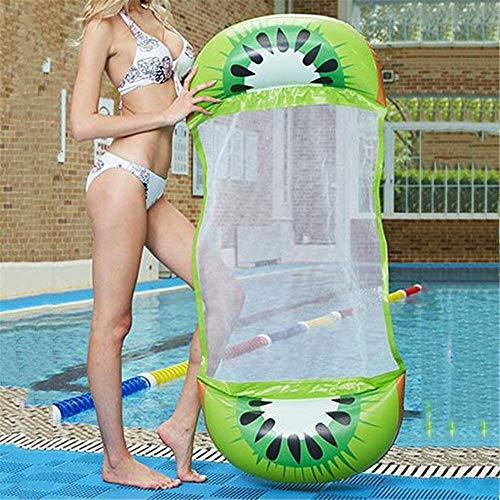Inflatable swimming seat Pool Inflatable Summer Inflatable Floating Row Chair Swimming Pool Air Mattress Beach Foldable Swimming Pool Fruit Chair Hammock Water Sports Mattress best gift ( Color : B )