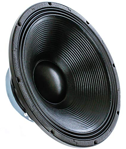 Alphasonik 18' Flagship Series 3000 Watts Raw Sub Woofer Speaker Cast Aluminum Basket Driver for Pro Audio PA DJ Cabinets Subwoofer with High Handling Power Extremely Clear and Loud - FW1832