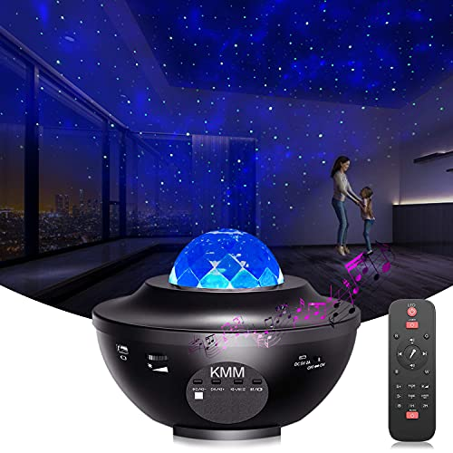Galaxy Star Projector Night Light - with LED Galaxy Ocean Wave Projector Bluetooth Music Speaker for Baby Bedroom,Game Rooms,Party,Home Theatre,Night Light Ambiance