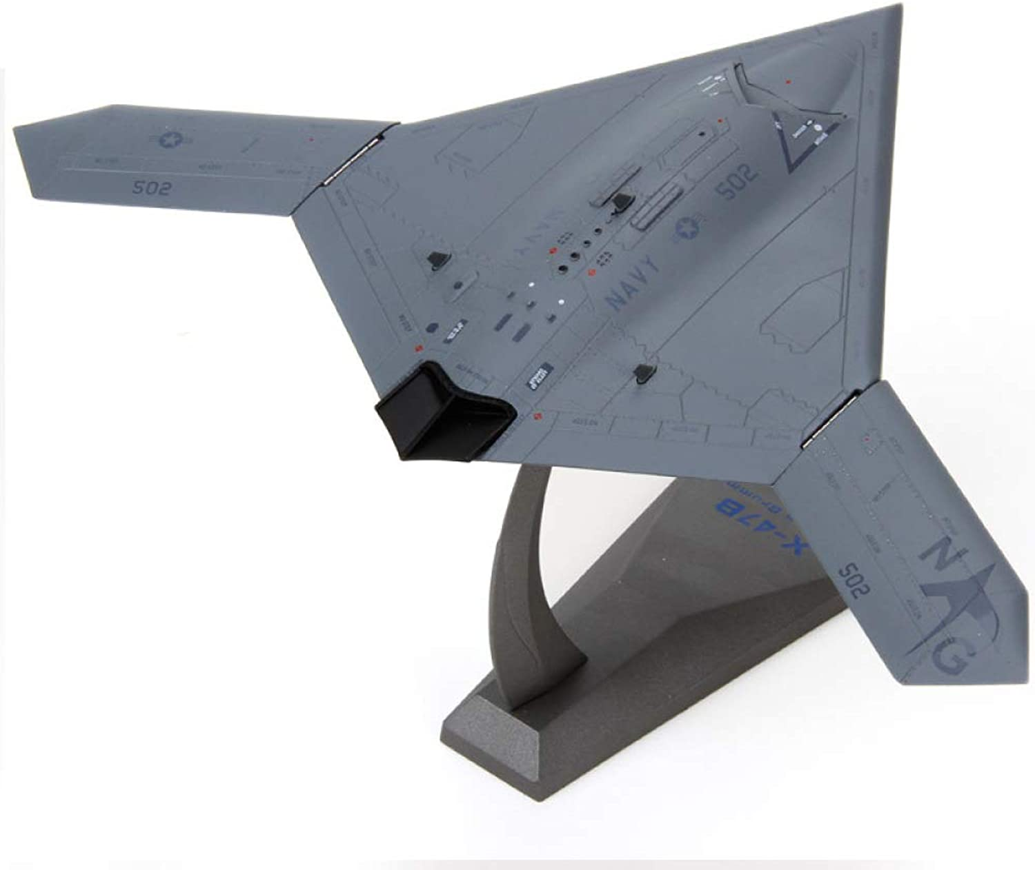 JAA X47B Unmanned Reconnaissance Aircraft 1 72 Scale alloy Model Kit Be Applicable Commemorate Collection