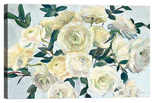 DìMò ART Leinwanddruck Roses in Cobalt Vase Spa Blue Crop Hageman Marilyn größe 150x100 cm