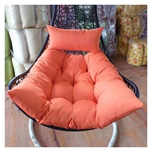 DYYD - Cojín de mimbre para silla de huevo, cojín de mimbre para colgar con cesta de asiento sin soporte para colgar con relleno (color: naranja)