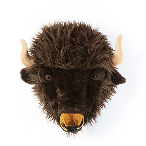 Wild & Soft Trophäe Büffel Alex 35 x 39 x 30 cm - Plüschtier als Wanddekoration im Kinderzimmer handgefertigt