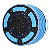 Shower Speaker, IPX7 Certified Bluetooth Waterproof Speakers Wireless Shower Radio with HD Sound Super Bass, FM Radio and Colorful LED Effect, Best for Shower Bathroom Kitchen Pool Beach and Outdoors
