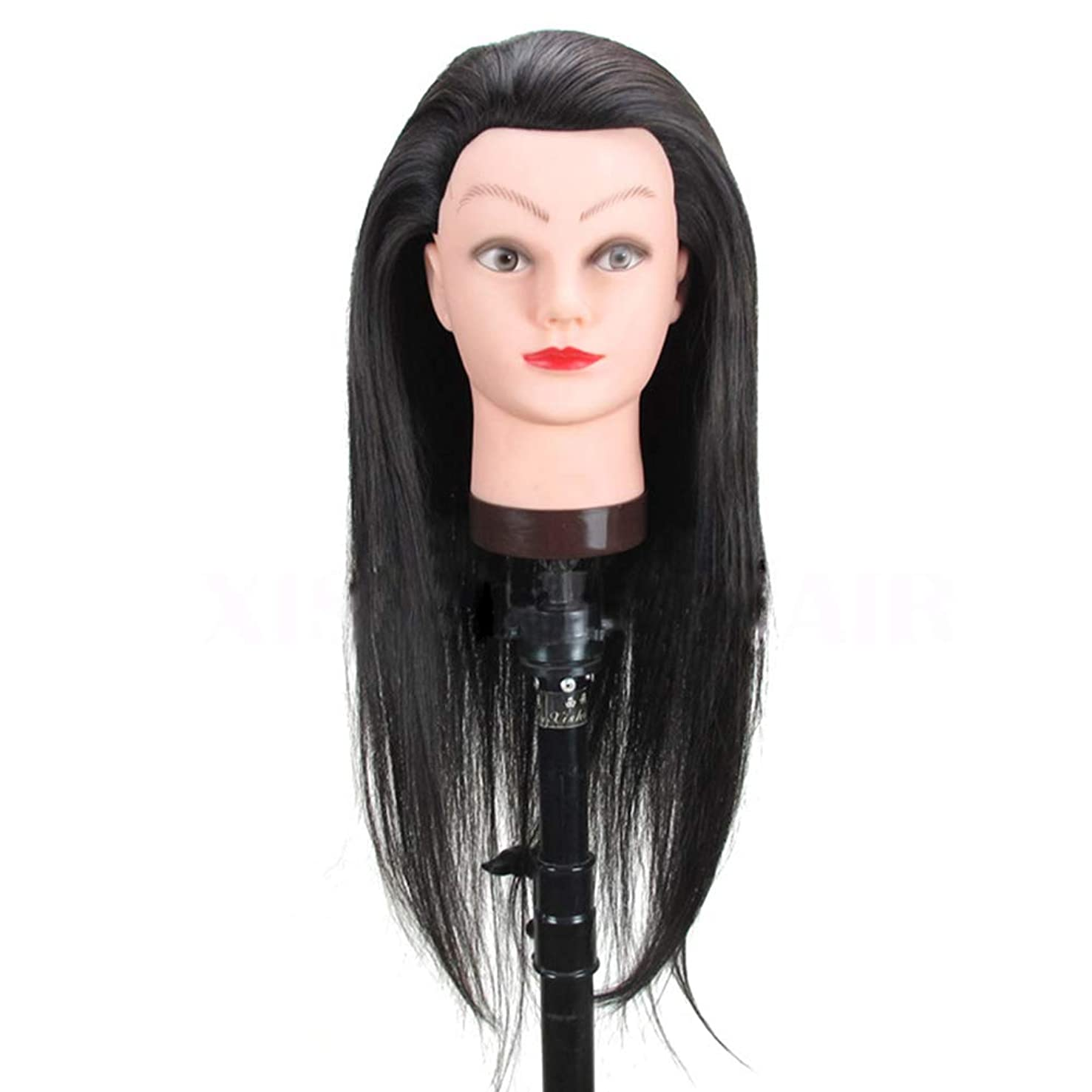 秘書販売計画ジャンピングジャックHairdressing Practice Head Model Braided Hair Training Head Head Barbershop Haircut Learning Dummy Mannequin Head.