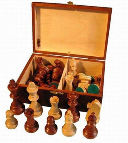 ChessEbook Schachfiguren aus Holz Staunton Nr 6 im Holzkistchen