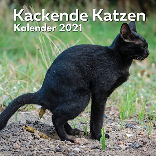 Kackende Katzen Kalender 2021: Katzenliebhaber Geschenke Lustig | Kackende Katze | Katzengeschenke für Männer Madchen Menschen Erwachsene Frauen Kinder Geburtstag Weihnachten