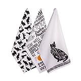 DII - Toalla de cocina y plato (100% algodón), Toalla, Cat Prints (3), Dishtowel - 18 x 28', 1
