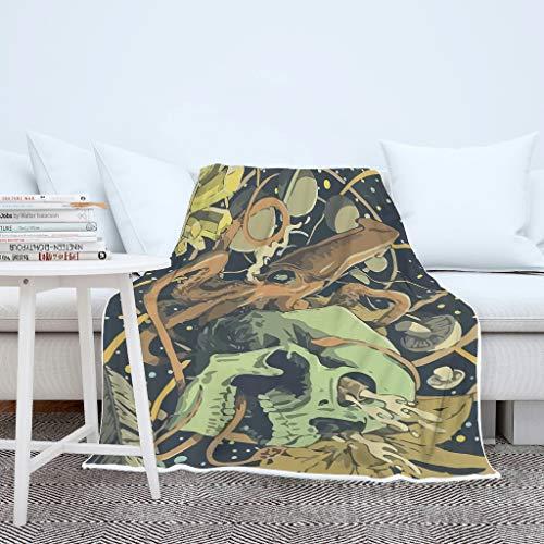 O2ECH-8 Blanket Octopus, schedel patroon, lichtgewicht, groot plafond, Octopus, warm past, cadeau-idee gebruiken