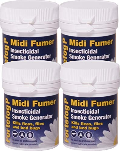 HSE approved and tested /– professional strength product Pest Expert Carpet Moth Killer Smoke Bombs 4 x 3.5g Formula P Moth Fumigator from