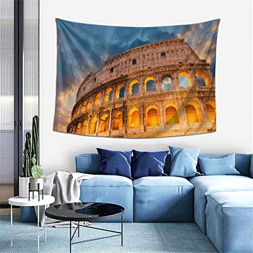 Ancient Roman Architecture Tapestry Wall Hanging, Art Decor Home Decoration for Living Room Bedroom Children's Room Apartment Dorm 60 X 40 Inches