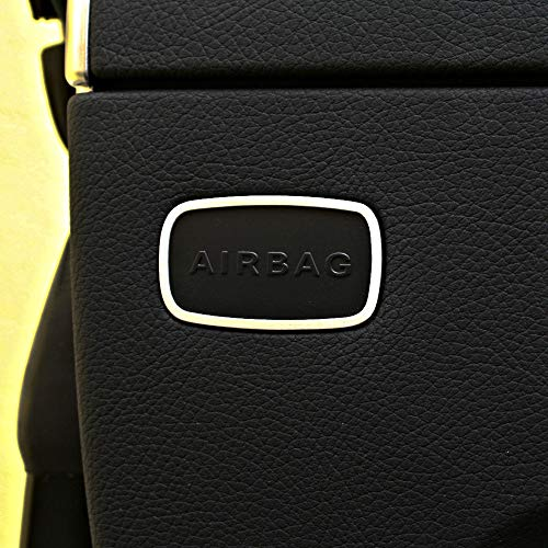 2-tlg. Zierrahmen für Airbagschilder von Mercedes SLK 172 aus Aluminium R172 FL 280 200 350 AMG55 AMG45