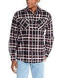 Wrangler Authentics Men's Long Sleeve Flannel Shirt, Caviar, Medium