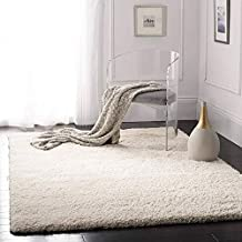 Sweet Homes softShaggy Collection Microfiber Anti-Skid Carpet -Fluffy Rugs for Bedroom Dining Hallway (Ivory, 2.9 x 5 ft)