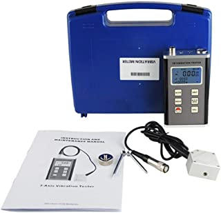 Rotation 0 to 40g Peak Handheld Vibration Tester VTSYIQI VM-6370T Vibration Meter and Photo Contact Tachometer 0.1 to 400m//s/² Acceleration 0.01 to 400mm//s Velocity 60 to 99,990RPM r//min