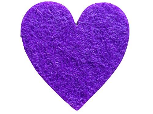 Bastel-s petra'news a-hef 2604–43 décoratifs symétrique Coeur 50 x 40 mm, Violet/Feutre