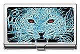 Estuche para tarjetas de visita, funda para tarjeta con nombre de animal leopardo, familia de gatos
