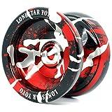 Supreme Yoyo Unresponsive Aluminum Yoyo with Extra Strings - Sidekick Lonestar Yoyo Series … (Black, Red, Silver)