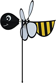 In the Breeze Baby Bug Bee Wind Spinner - Silk Screened Details - Fun Spinner for your Flower Pot's, Garden and Yard