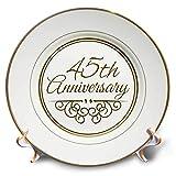 45th anniversary plate