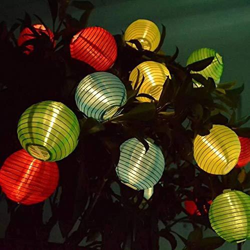 HNLY Weihnachtslichterketten Urlaub Lichterketten Lichterketten Solar Laterne Led Lichterketten Garten Im Freien Dekorative Lichter