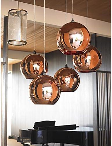 Mid Century MODERN styled Copper BALL pendant lamp