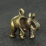 HaiFiy Mini Lindo Latón Elefante Figura Pequeño Drinktop Drnning Ganchos Inicio Oficina Ornamento Decorativo Latón Creativo Elefante Llavero Regalo Sorpresa (Color : Elephant Ornaments)