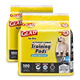 Glad for Pets Black Charcoal Puppy Pads, 100 Count -2 Pack | Puppy Potty Training Pads That Absorb & NEUTRALIZE Urine Instantly | New & Improved Quality Puppy Pee Pads