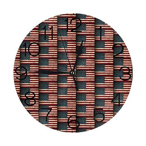 Reloj de pared redondo para yoga, diseño de bulldog inglés, grande, decorativo, estilo numeral redondo, decoración del hogar, ideal para sala de estar (25 cm)