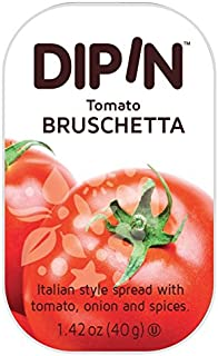 Sheffa Dipin Tomato Bruschetta Dip, 1.42 Oz (12 Pack) Long Shelf Life Italian Style Bruschetta Spread with Tomatoes Onions & Spices