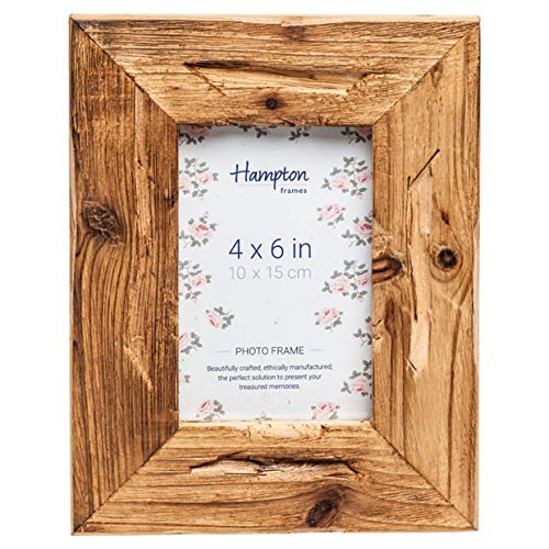 Hampton Frames Driftwood Einzigartiger Fotorahmen aus Distressed-Holz - 4x6 (10x15cm) DRI14546