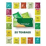 ONLYLEAF 100% Natural Immunity Boosting Green Tea Sampler Box, 20 Pyramid Tea Bags of 10 Different...