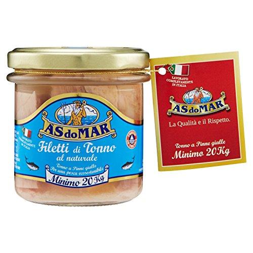Asdomar - Filetes de atún al natural, 150 g