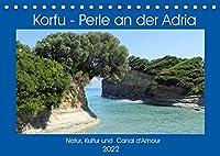 Korfu - Perle an der Adria. Natur, Kultur und Canal D'Amour (Tischkalender 2022 DIN A5 quer): Die gruene Insel Griechenlands. (Monatskalender, 14 Seiten )