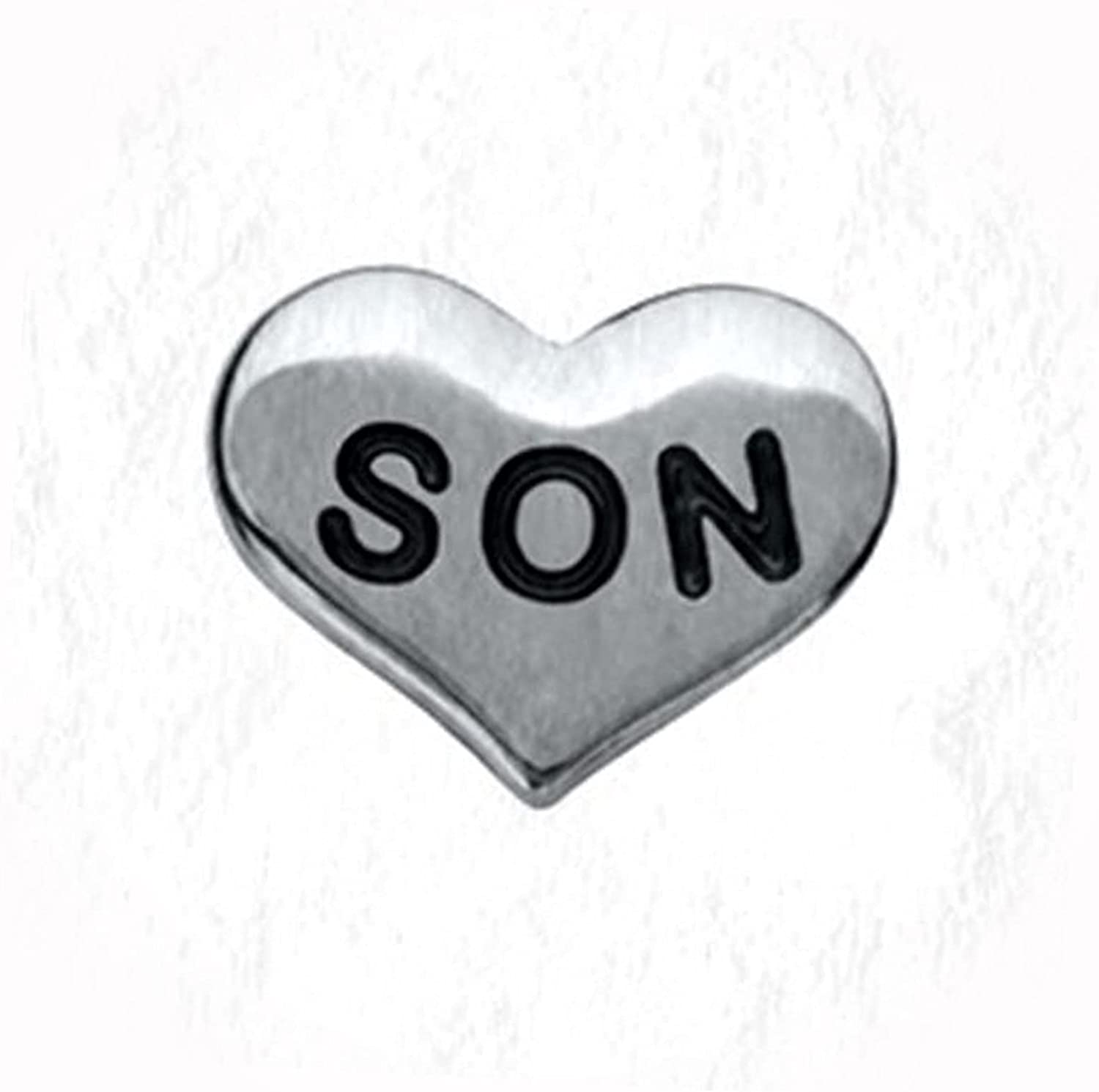 New Son Heart Silver 10mm Floating Charm Pi Weekly update Free Shipping 1 Lockets Memory for