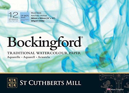 Bockingford Watercolor Pad 10 X 14 Pad White 140 Pound
