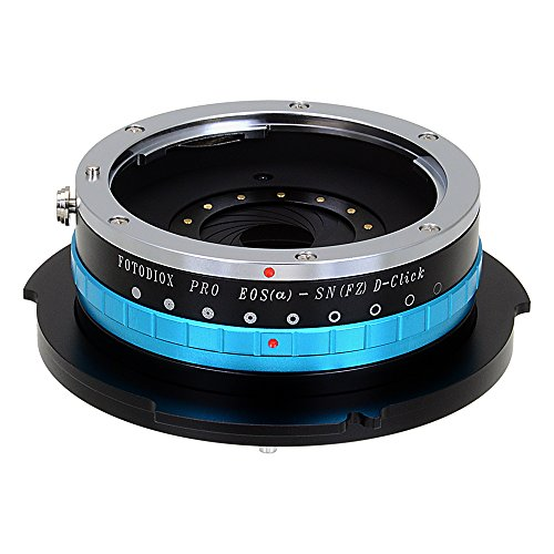 Fotodiox Pro Lens Mount Adapter with Iris, Canon EOS EF (not EF-s) Mount Lens to Sony FZ Mount Camera Adapter - fits Sony PMW-F3, F5, F55 Digital Digital Cinema Camcorders and has Built-in Aperture Iris for EOS Lenses