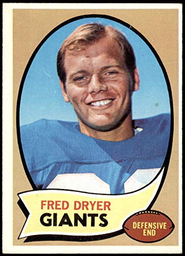 1970 Topps # 247 Fred Dryer New York Giants-FB (Football Card) VG/EX Giants-FB San Diego St