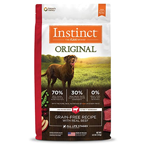 Instinct Original Grain Free Recipe with Real Beef Natural Dry Dog Food by Nature's Variety, 4 lb. Bag