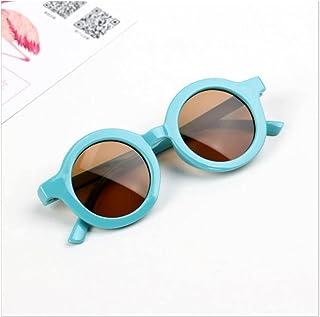 XINGTAO - XINGTAO Gafas de Sol para niños Gafas de Sol para niños Moda Simple Infantil Retro Ocio Ultravioleta a Prueba de Personas Conveniencia Conveniencia Gafas Gafas para niños (Color : Blue)
