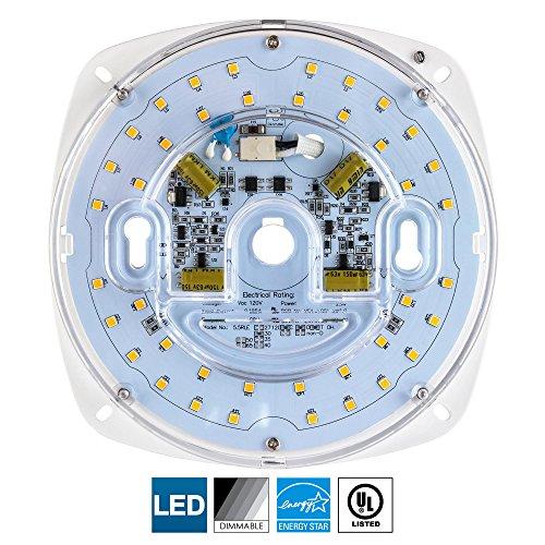 Sunlite LED Retrofit Light Engine, 5.5-Inch, 5000K Super White, 23 Watt, Dimmable, Flush Ceiling Fixture LED Upgrade Panel, Energy Star Compliant, Commercial Grade, 90 CRI