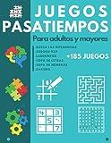 Juegos Pasatiempos para Adultos y Mayores: Libro de actividades para ancianos -...