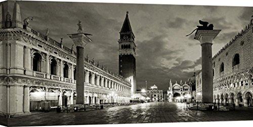 Art Print Cafe – Decoration Murale, Photo de Vadim Ratsenskiy, Piazza San Marco, Venice – Impression sur Toile 140x70 cm